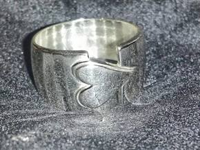 Heart ring in Polished Silver: 7.5 / 55.5