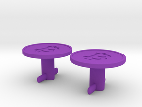 Bitcoin Cufflinks in Purple Processed Versatile Plastic