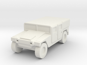 1/200 US Army M1035 Humvee HMMWV Hummer H1 in White Natural Versatile Plastic