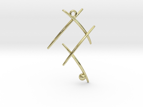 Ball On Stick in 18k Gold