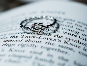 True Lover's Knot Ring in Rhodium Plated Brass