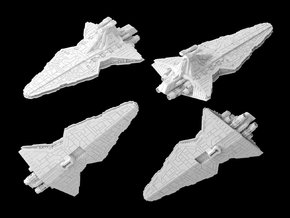 (Armada) Venator Star Destroyer in White Natural Versatile Plastic