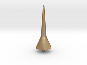 Hexa Tower Spike Scale Part in Matte Gold Steel