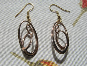 Three-Torus V1 Earrings in 14k Rose Gold Plated Brass