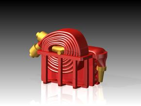 Fire Hose - Flaked & Rolled x 6 1/144 in Smooth Fine Detail Plastic