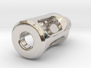 Tritium Lantern 1D Shorty (3x11mm Vials) in Rhodium Plated Brass