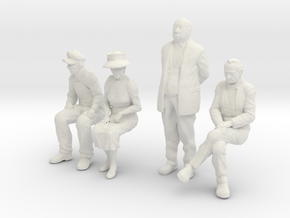 1:29 scale low res passengers in White Natural Versatile Plastic