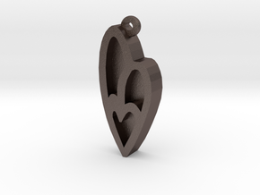 Unova Pendant [Insect] in Polished Bronzed Silver Steel