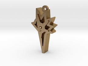 Unova Pendant [Legend] in Polished Gold Steel