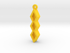 Unova Pendant [Trio] in Yellow Processed Versatile Plastic
