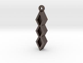 Unova Pendant [Trio] in Polished Bronzed Silver Steel