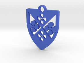 Arms of Edine Godin pendant in Blue Processed Versatile Plastic