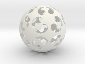 Comma symmetry sphere *432 (no markings) in White Natural Versatile Plastic