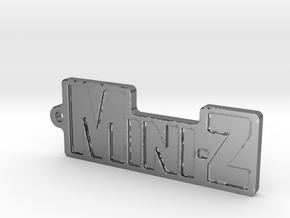 Mini-Z-Anhänger groß in Polished Silver