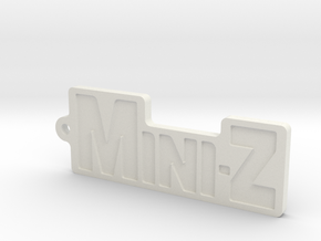 Mini-Z-Anhänger groß in White Natural Versatile Plastic