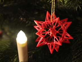 Star Point: Christmas Ornament in White Natural Versatile Plastic