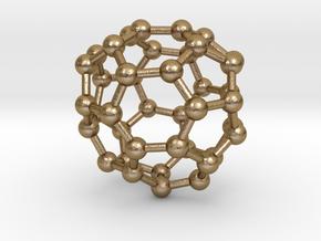 0147 Fullerene C40-35 c2 in Polished Gold Steel