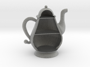 Micro 1:144 Scale Teapot House in Metallic Plastic