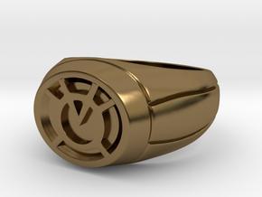 Orange Lantern Ring in Polished Bronze
