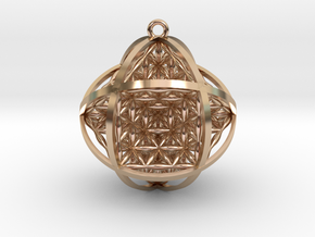 Ball Of Life Pendant in 14k Rose Gold Plated Brass