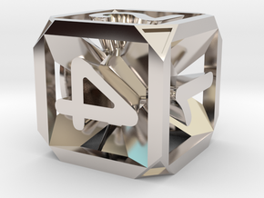 Expanding Dice in Rhodium Plated Brass