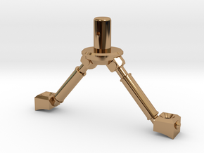 3d Strut Shuttle 3-3 in Polished Brass