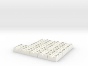 YT1300 HSBRO ENGINE NOZZLES PLASTIC in White Processed Versatile Plastic