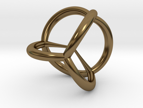 5-cell in Polished Bronze