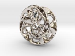 Scherk Pendant in Platinum
