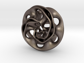 Scherk Pendant in Polished Bronzed Silver Steel