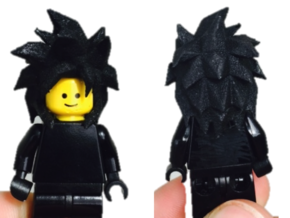 Custom Goku SSjj4 Inspired Lego in White Strong & Flexible