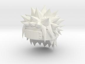 Custom Naruto Inspired Hair for Lego in White Natural Versatile Plastic