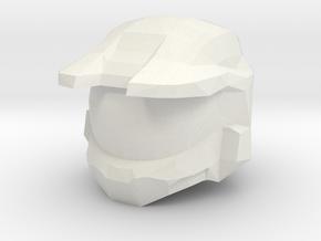 Custom Master Chief Inspired Helmet for Lego in White Natural Versatile Plastic