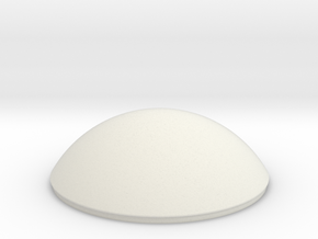 Freds Orbiter Dome in White Natural Versatile Plastic