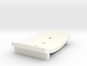 Soap Dish B in White Processed Versatile Plastic