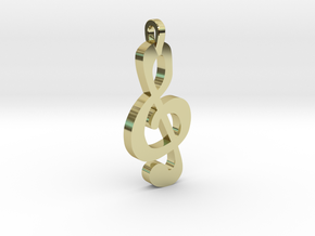 Treble Clef Pendant in 18k Gold