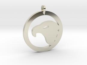 Eagle Eye Pendant in 14k White Gold