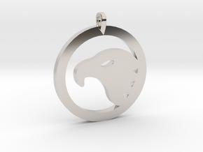 Eagle Eye Pendant in Platinum