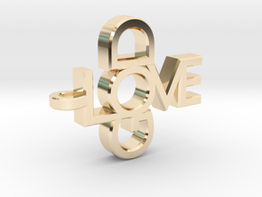 Love God Pendant in 14K Yellow Gold