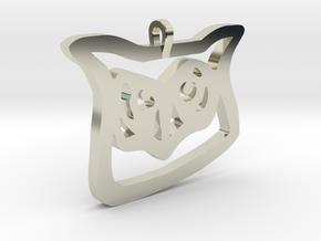 Owl Pendant in 14k White Gold