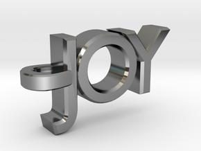 Joy Pendant in Fine Detail Polished Silver