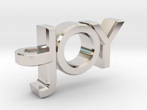 Joy Pendant in Rhodium Plated Brass