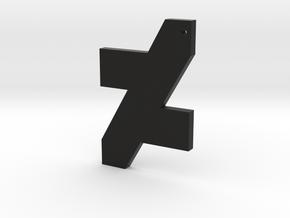 DA Logo 2 Normal CH7 in Black Natural Versatile Plastic
