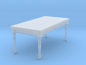 1:144 Micro Scale French Country Dining Table 1 in Smooth Fine Detail Plastic