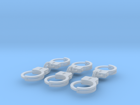 Miniature handcuffs in Smooth Fine Detail Plastic