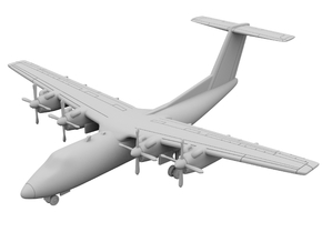 1:400 - DHC_7 in Smooth Fine Detail Plastic