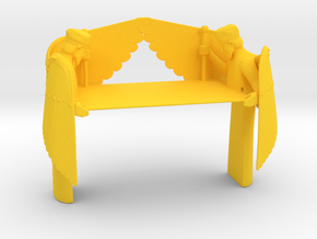 Mercy Seat for Ark of the Covenant in Yellow Processed Versatile Plastic