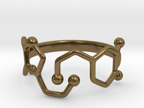 Dopamine Serotonin Ring - Size 7 in Polished Bronze