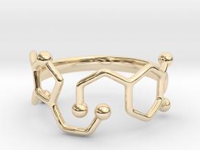 Dopamine Serotonin Ring - Size 7 in 14K Gold