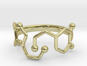 Dopamine Serotonin Ring - Size 7 in 18k Gold